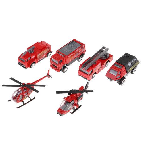 Maßstab 1:87 Skala Druckguss Legierung Fahrzeug Modell Feuerwehrauto