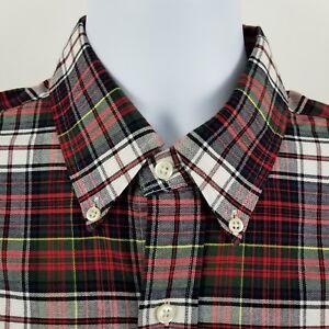 RECENT-Ralph-Lauren-Red-Plaid-Check-Oxford-L-S-Casual-Button-Shirt-Sz-Large-L