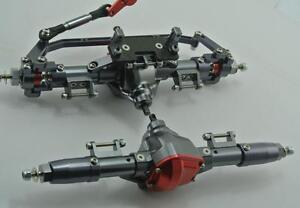 Axial-SCX10-Honcho-Jeep-CNC-FULL-METAL-Assembled-Front-Rear-Axle-Set-Gun-Metal