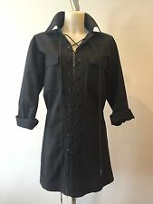 RARE Iconic Vintage YVES SAINT LAURENT Safari Tunic Dress Veruschka YSL Sz 40
