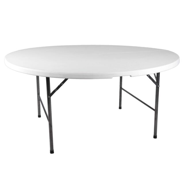 Klapptisch Rund 160 Cm Campingtisch Tisch Partytisch Klappbar Kunststoff