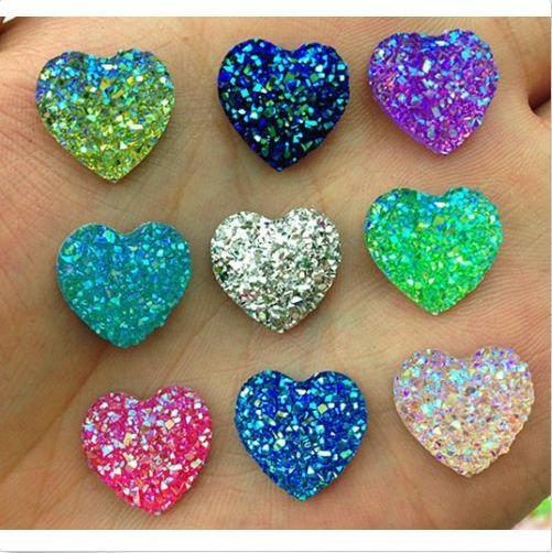 NEW DIY 25pcs 14mm Resin MIX AB flat back Bling Scrapbooking for phone/wedding