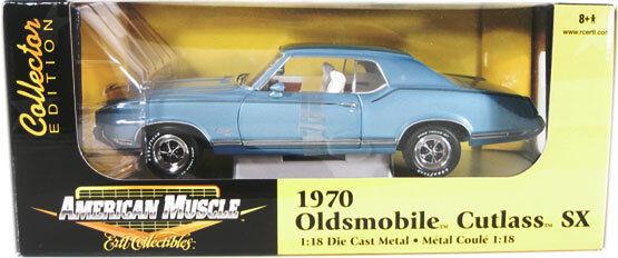 1970 1 18 Oldsmobile Cutlass Sx astro blu Ertl American Muscle 33774