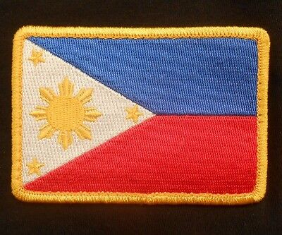 PHILIPPINES COUNTRY TACTICAL COMBAT FLAG FILIPINO ARMY MORALE COLOR IRON PATCH