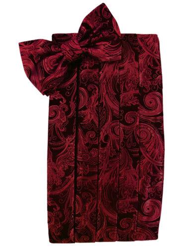 RED PAISLEY PRINT bowtie and cummerbund set  BRAND  NEW