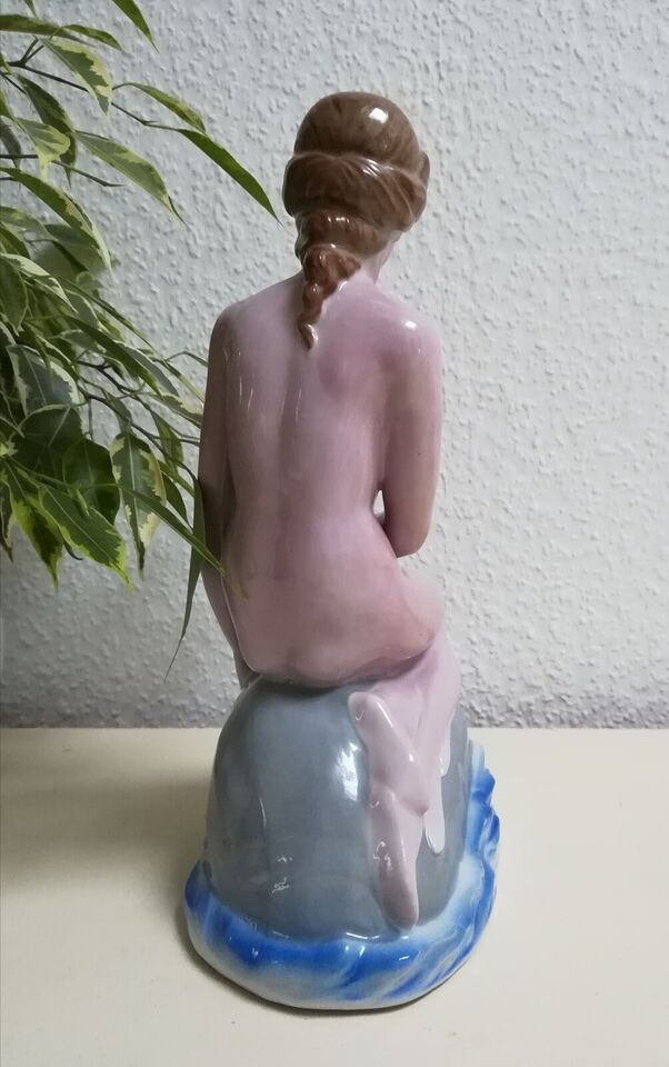 Porcelæn, Figur Havfrue, Wagner&Apel GDR