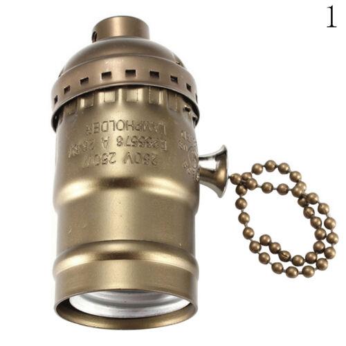 1×E27 Lampenfassung Lampensockel Socket Halter Anhänger Retro Vintage lampenfuß.