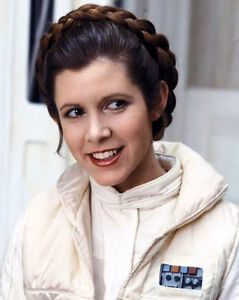 actress carrie fisher princess leia glossy 8x10 photo star wars