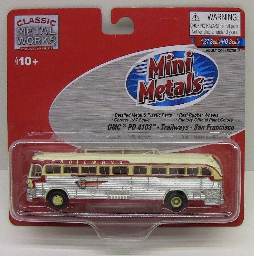 Classic Metal Works HO TRAILWAYS TRAILWAYS TRAILWAYS BUS San Francisco CMW32111-NEW 4d30ed