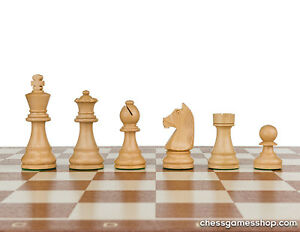 Tournament Staunton Standard size wooden chess pieces