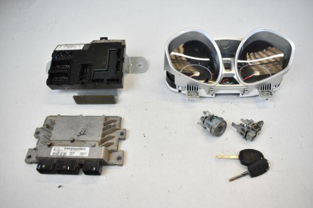 Ford Fiesta MK7 2010 1.25 Duratec Petrol ECU & Lock Set - AV21-12A650-CA V2CA