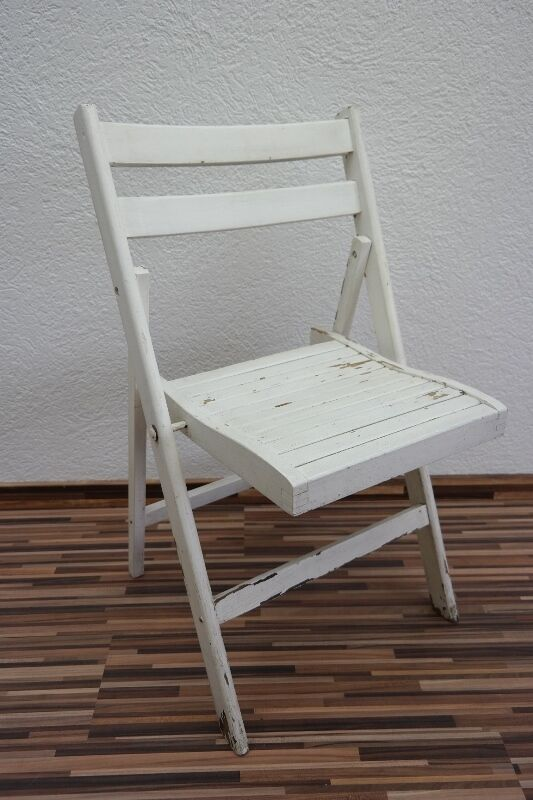Âge chaise pliante, chaise de camping, camping, de chaise de jardin, blanc chaise, chaise en bois 1502a4