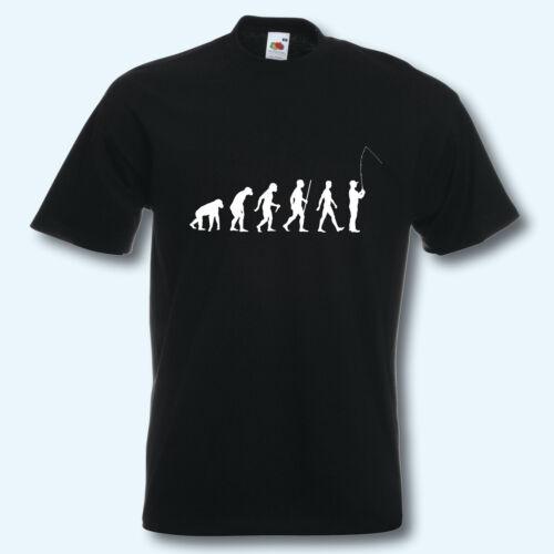 T-Shirt S-XXXL Fun-Shirt Evolution Angeln