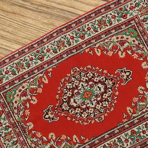 10X17CM Red Rot Dollhouse Miniature 1:12 Scale Floor Carpet Rug