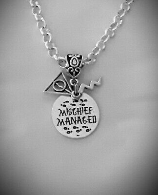 SP Necklace /& Earring Set Harry Potter Inspired Mischief Managed Whomping Tree