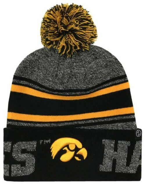 83508e07dae Zephyr Hats University of Iowa Hawkeyes Orbit Knit Hat NCAA College Beanie  Cap