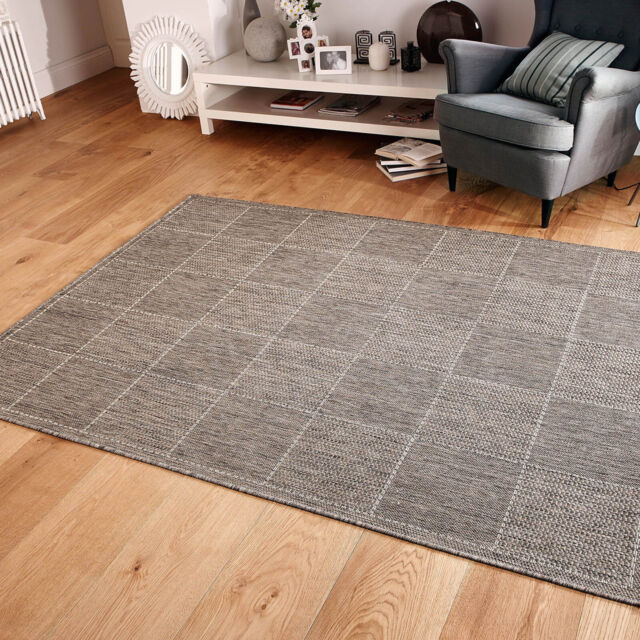 Checked Flatweave Kitchen Rugs Runners