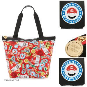 LeSportsac-Nintendo-Mario-Travel-Hailey-Tote-Handbag-Super-Mario-NWT-Free-Ship