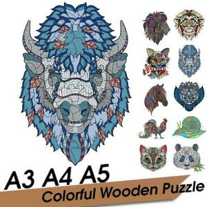 Wooden Puzzle Cartoon Animal Pattern Adult Kids Toy Jigsaw DIY Home Decor