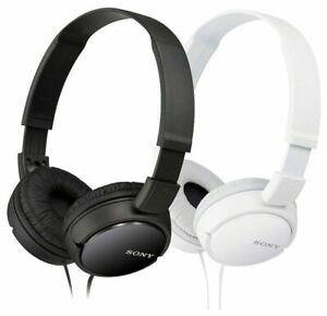 Details about Sony Headphone Over-Head MDR-ZX110 Stereo Extra Bass Black &  White Colors NEW!!