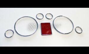 For Audi A3 8L A4 8D B5 A6 4B C5 Chrome Speedometer Gauge Dial Rings Bezel Trim