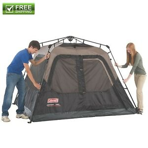 Image is loading COLEMAN-4-PERSON-INSTANT-TENT -CAMPING-WATERPROOF-WEATHERTEC-  sc 1 st  eBay & COLEMAN 4 PERSON INSTANT TENT CAMPING WATERPROOF WEATHERTEC ...