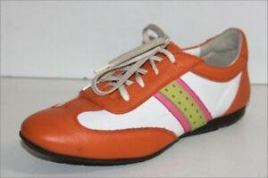 RENOUARD-Sneakers-Lacets-Femme-Cuir-Colore-Doubles-Cuir-T-39-TTBE