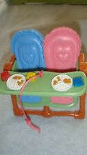 Twin Baby Doll  Feeding High Chair Fisher Price Loving Family Dollhouse