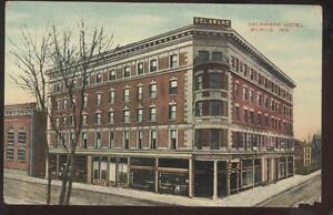 Image Is Loading Postcard Muncie Indiana In Delaware Hotel Amp Fronts
