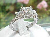 Tacori Epiphany Diamonique Princess Cut 3 Stone Ring Size 10