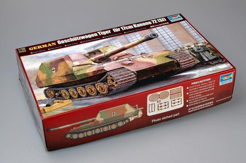Trumpeter 1 35 00378 Geschutzwagen Tiger fur 17cm K72