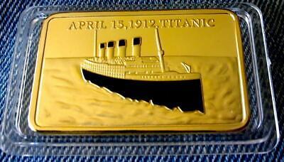1 Onza Lingotes Titanic - 15 De Abril De 1912-nuevo