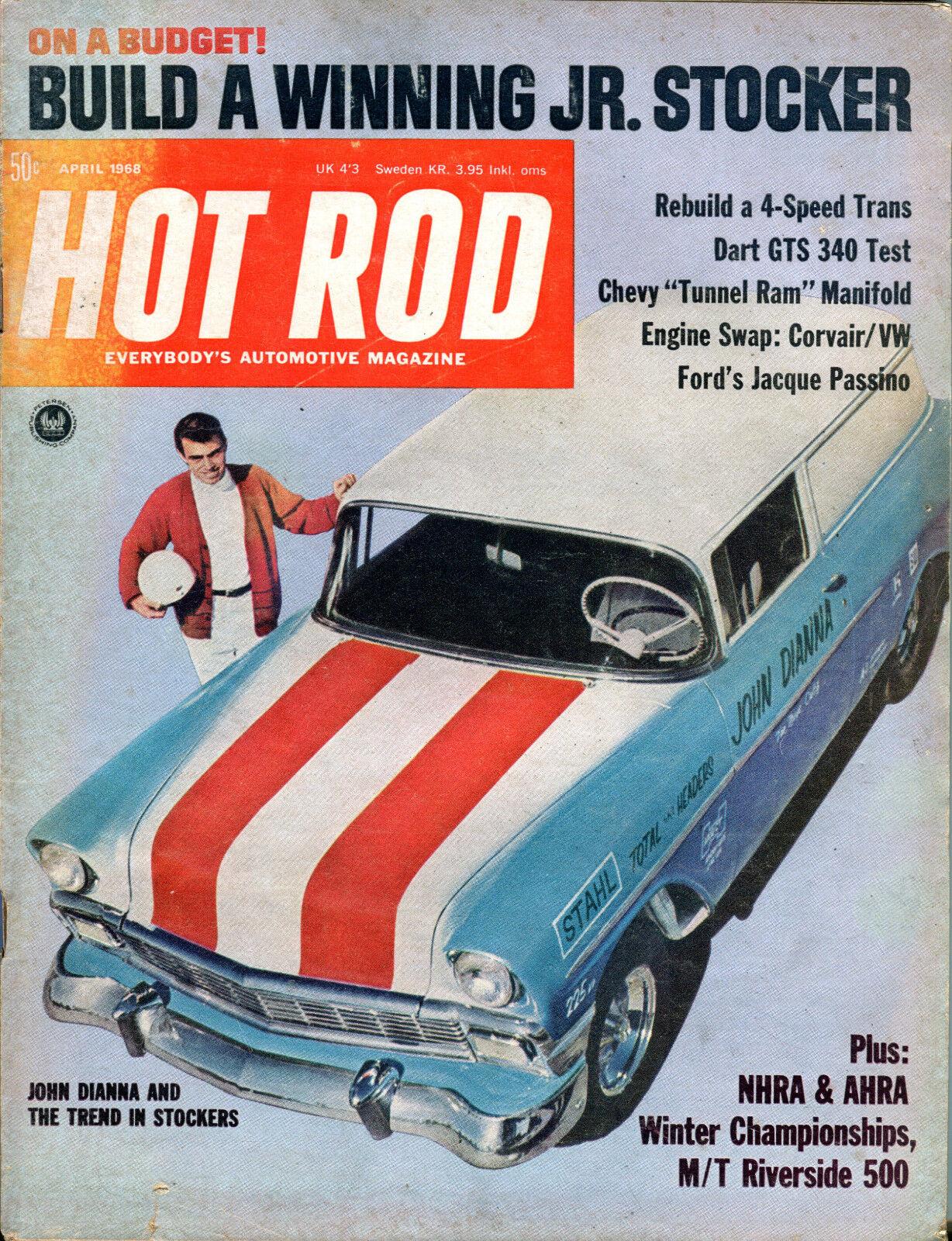 Hot Rod Magazine April 1968 John Dianna Stockers EX 021116jhe ...