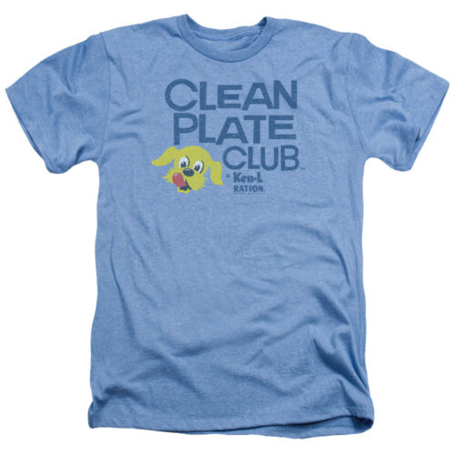 Ken-L-Ration CLEAN PLATE CLUB Dog Face Vintage Style Heather T-Shirt All Sizes