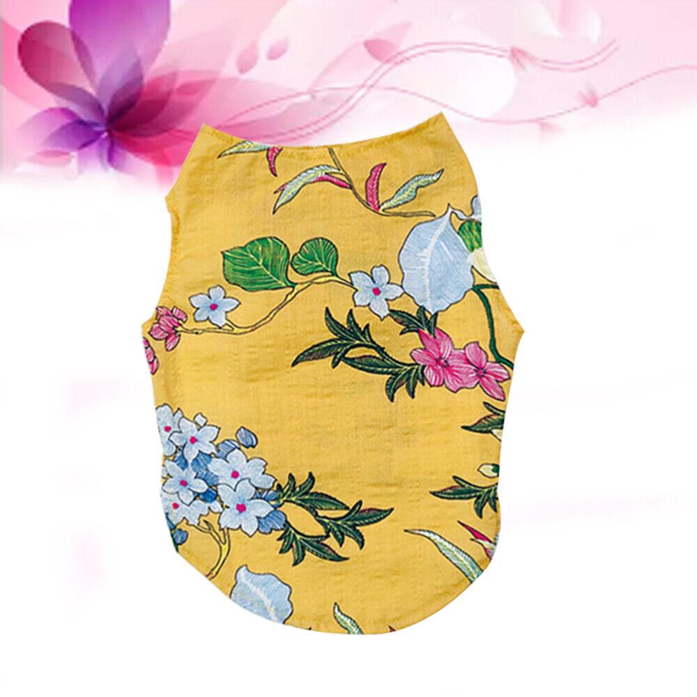 1 stück Welpenweste Floral Print Kleidungsstück Hund Weste für Welpenhunde