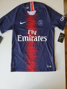 Amoroso Detectar Ojalá  Nike PSG Paris Saint Germain Vaporknit Soccer Jersey Small 2018/2019   eBay