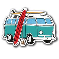 2 x Camper Van Sticker VW Splitty Helmet Surf Surfer Car iPad Laptop Decal #4074