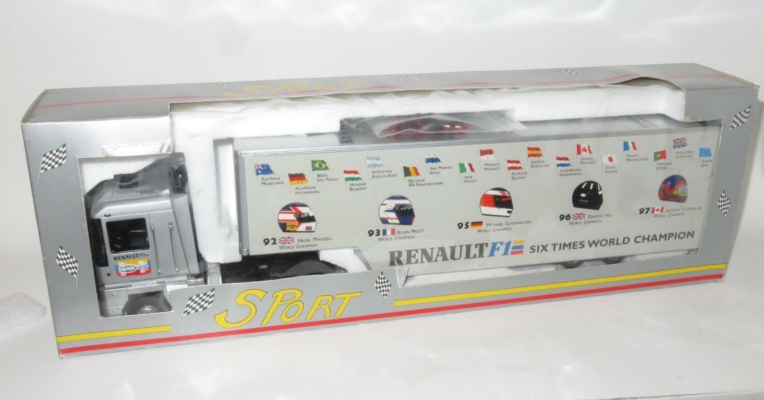 Eligor 1 43 Renault Magnum F1 Transporter Six Times WC  Hill Prost Mansell +2