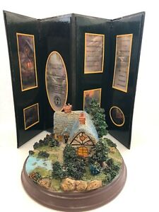 Kinkade-A-Quiet-Evening-Hawthorne-Village-Lighted-Sculpture-w-Box-Picture-Frame