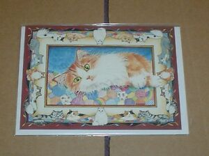 Lovely-Ginger-And-White-Cat-Blank-Card