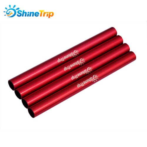 4PCS Alu Alloy Φ9mm*130mm Spare Repaired Tube for 7.9mm//8.5mm DIA Tent Pole