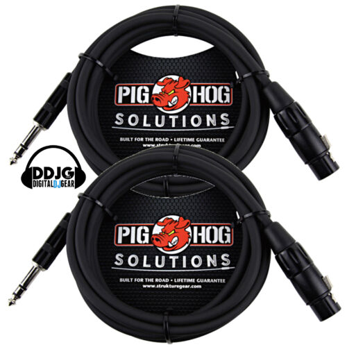 Pig Hog 10ft TRS Male XLR Female Balanced Cables Pair PX-TMXF1
