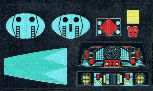 G1 AUTOBOT BLURR REPRO LABELS TRANSFORMERS GENERATION 1 STICKERS
