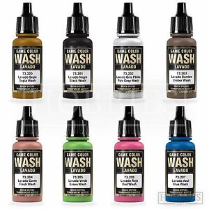 Vallejo-Game-Colour-Wash-Model-Washes-Paints-Fantasy-Airbrush-Colours-Spray-17ml