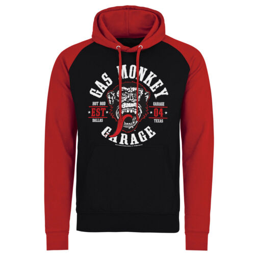 Official Licensed Gas Monkey Garage Round Seal Baseball Hoodie S-XXL GMG