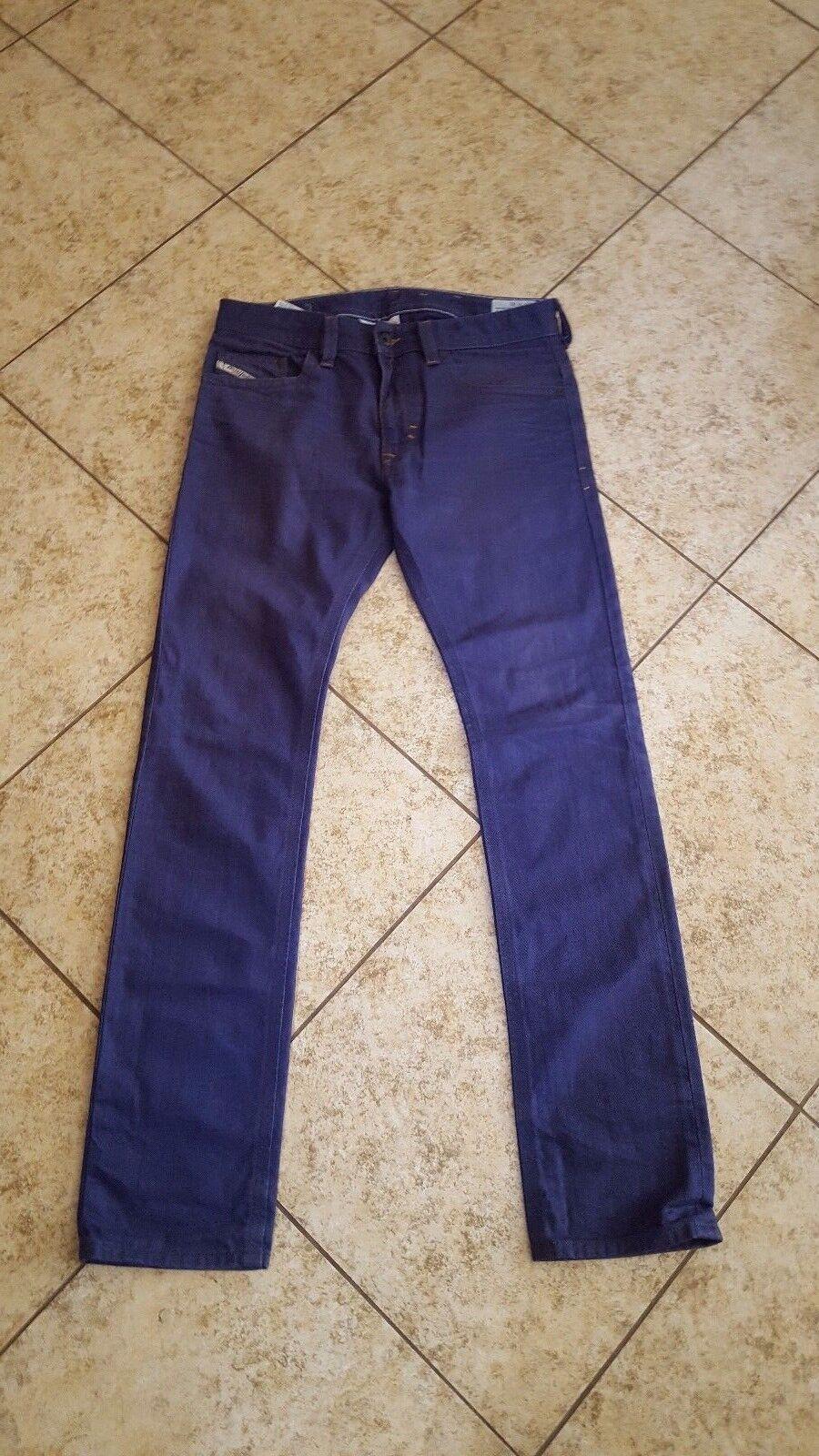 Diesel Men's Slim Skinny Jeans sz 31 Thavar 08QU Distressed Denim