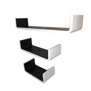 Wall-Shelves-Set-of-3-U-Shaped-Floating-Shelves-60-45-30-cm-MDF-Storage-Unit