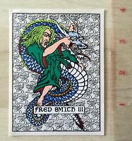 Alva Fred Smith Skateboard Sticker Signed Loud One Japanese Tattoo