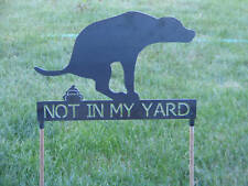 Bad dog, Dont go in my yard! Say no to dog poop!