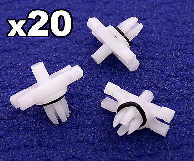 20x BMW E46 Trim Clips for Roof Rain Gutter Plastic Moulding Trims 51138204858